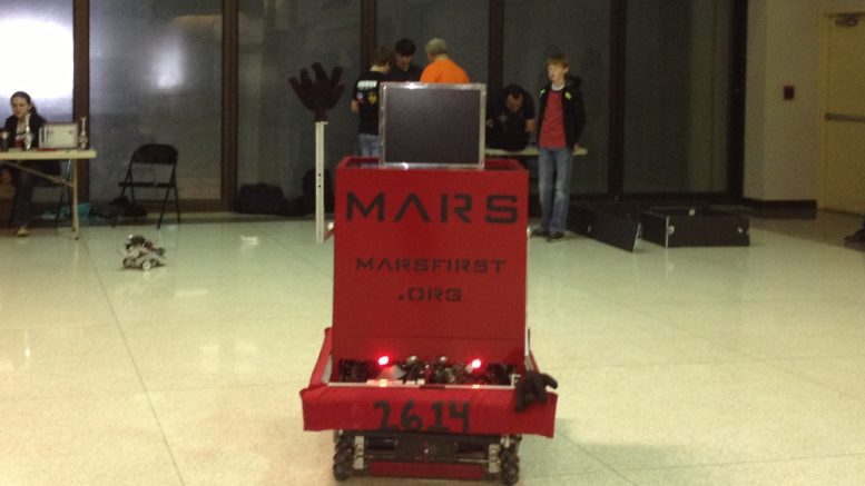 MARS robot Marvin at Robotics Day at Spark Imagination and Science Center