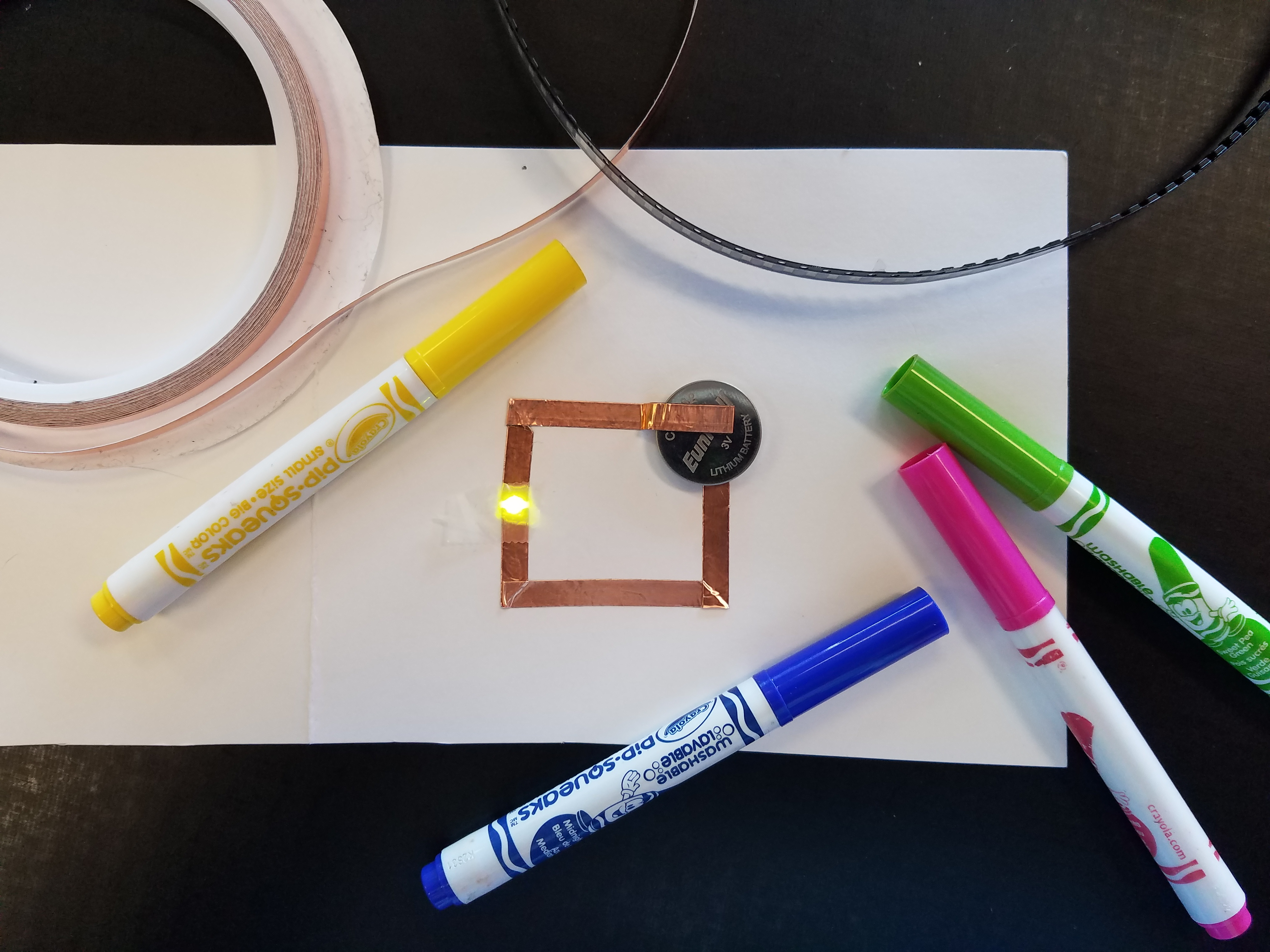 paper circuits at Spark Imagination and Science center